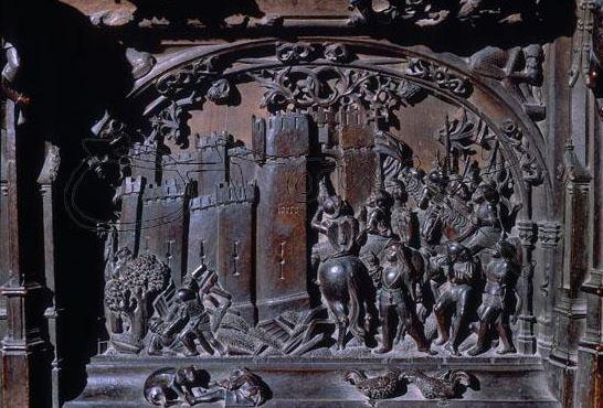 Serón En La Sillería Del Coro Bajo De La Catedral De Toledo