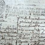 """Escritura de constitución de la Hermandad """"Soldadesca"""" en 1769."""