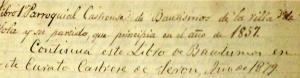 PARROQUIA CASTRENSE DE SERÓN
