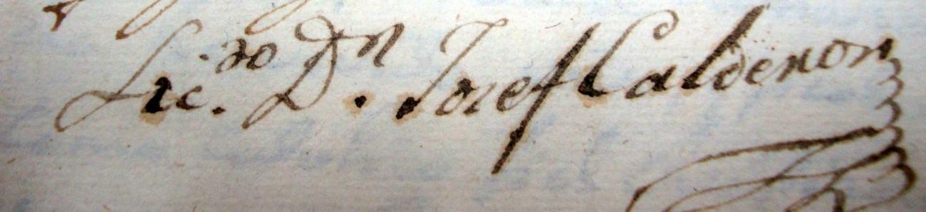 Firma de Josef Calderón y Milán, alcalde mayor de Serón durante la ocupación francesa en la cuenca del Almanzora