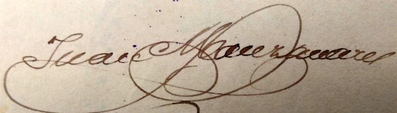 Firma de Juan Manzanares Fernández en 1915