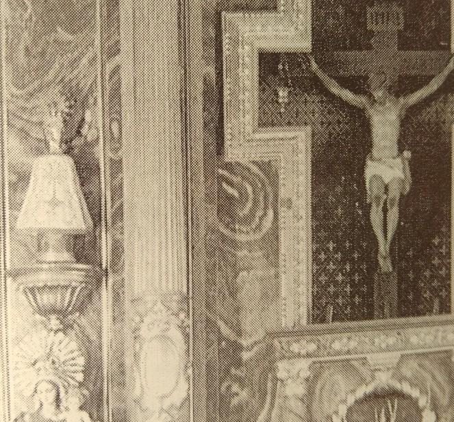 La imagen siempre ha estado en el retablo mayor (foto de 1992)